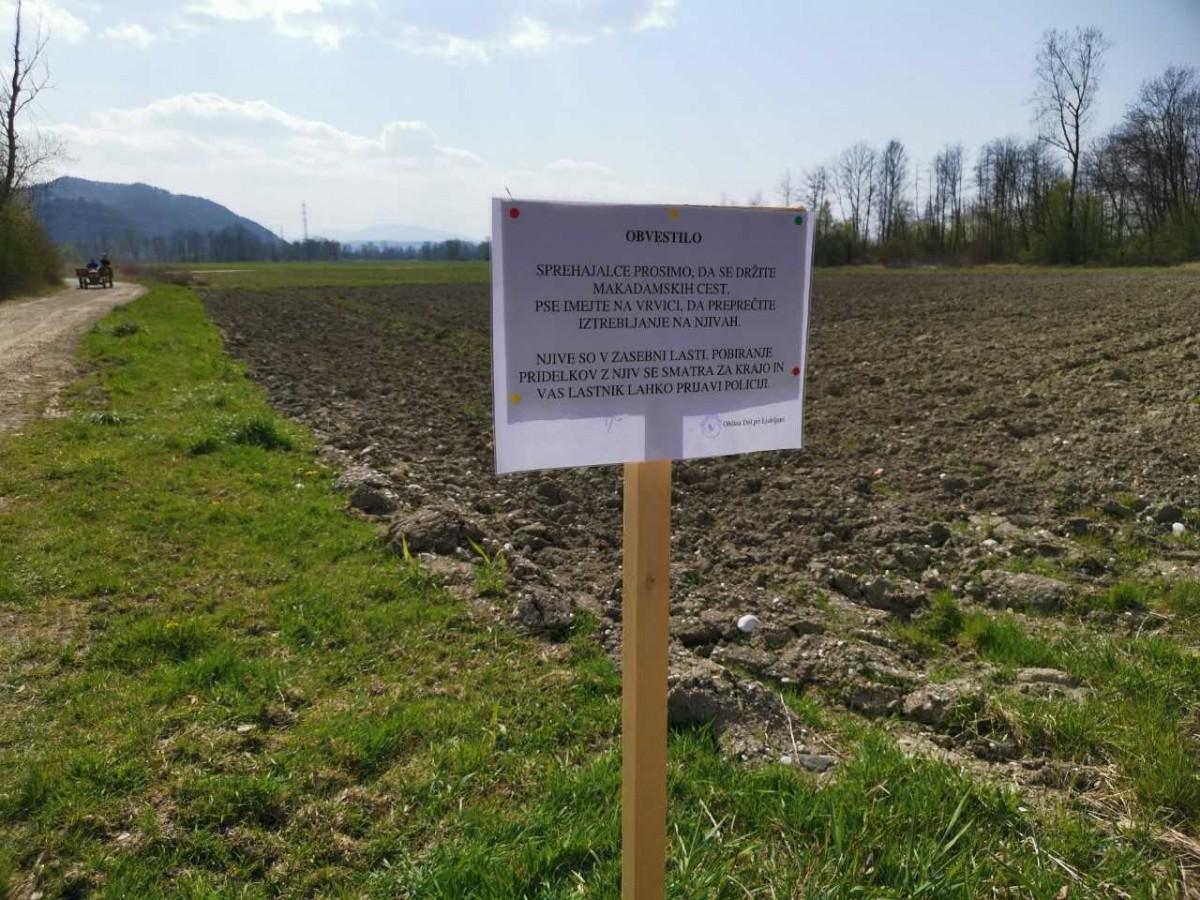 Gibanje v naravi - obvestilo občanom