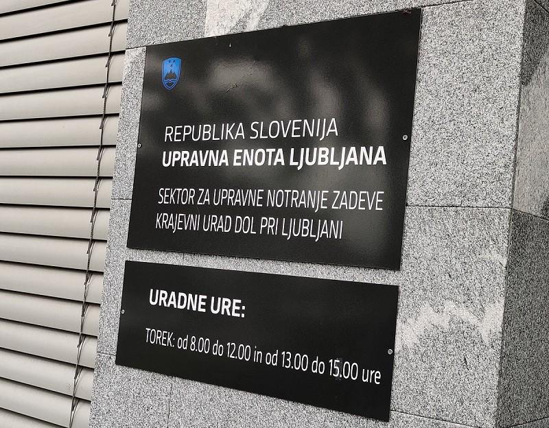 Krajevni urad Dol pri Ljubljani v januarju 2021 zaprt