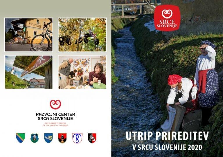 Izšla je knjižica »Utrip prireditev v Srcu Slovenije 2020«