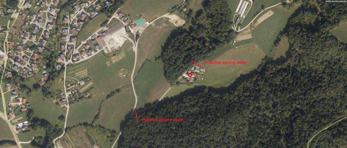 Začasna popolna zapora javne poti Kamnica - Osredke, od razcepa ceste do hiše Osredke št. 40