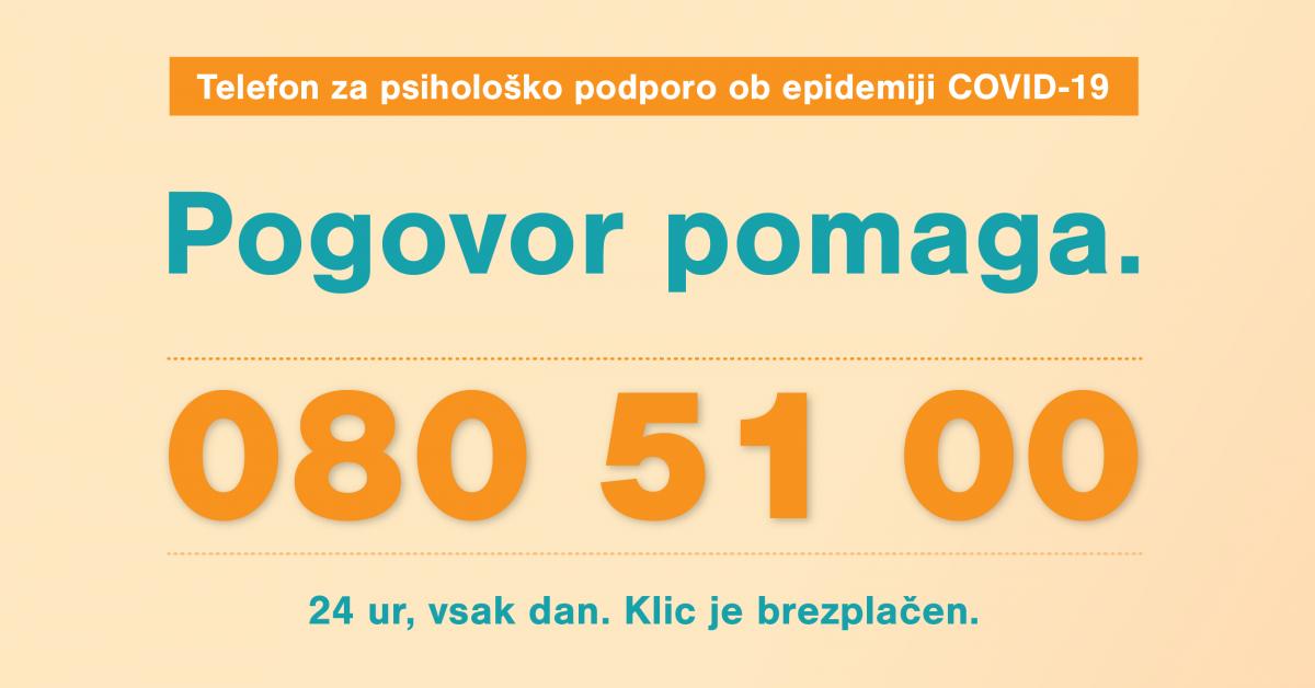 Nov telefon za psihološko podporo ob epidemiji COVID-19