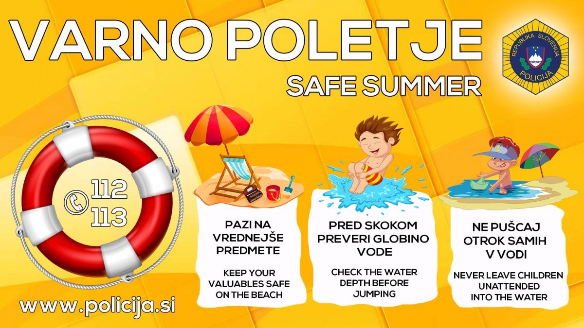 Preventivni letak varno v poletje